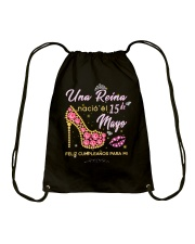 Una reina-15-album heels-T5 Drawstring Bag thumbnail