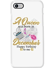 a queen was born in December 1-white-12 Phone Case thumbnail