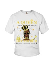 a queen was born in December 5-white-12 Youth T-Shirt thumbnail