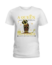 a queen was born in December 5-white-12 Ladies T-Shirt front