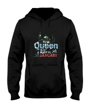 This Queen was born in 3 - January Hooded Sweatshirt thumbnail