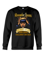 Queens are made out of brow sugar- November Crewneck Sweatshirt thumbnail
