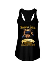 Queens are made out of brow sugar- November Ladies Flowy Tank thumbnail