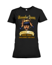 Queens are made out of brow sugar- November Premium Fit Ladies Tee thumbnail