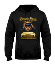 Queens are made out of brow sugar- November Hooded Sweatshirt thumbnail