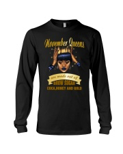 Queens are made out of brow sugar- November Long Sleeve Tee thumbnail