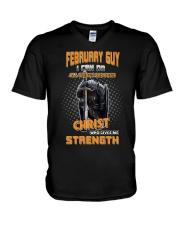 Strength guy-US-T2 V-Neck T-Shirt thumbnail