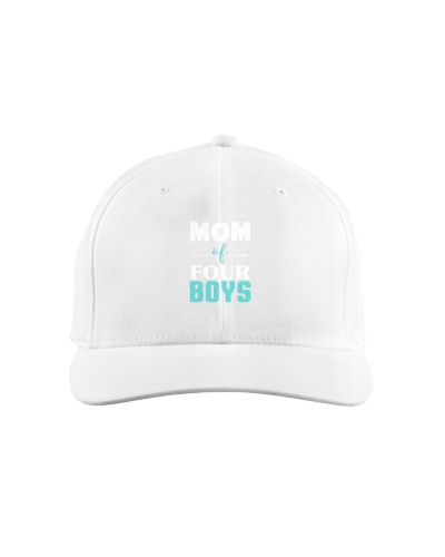 Mom Of Four Boys Mothers Day Four Kids Mommy Tee