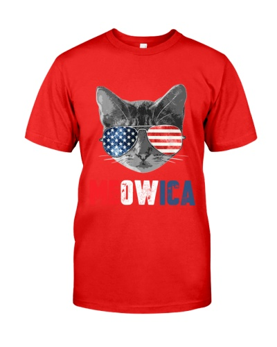 4th of July Meowica American Flag Cat