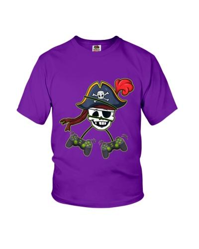 Halloween Pirate Skeleton Video Gamer
