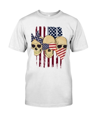 See Speak Hear No Evil Skull 4th Of July