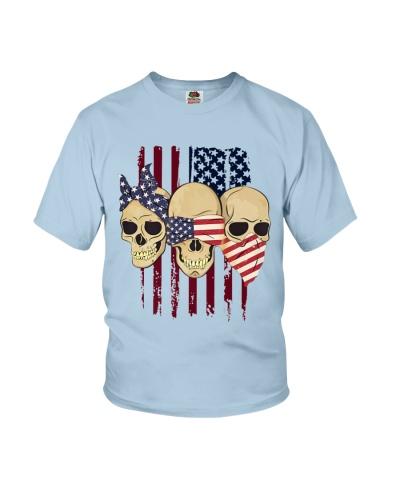 See Speak Hear No Evil Skull 4th Of July