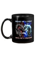 Heart Of A Wolf Soul Of A Dragon Mug back