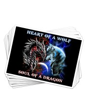 Heart Of A Wolf Soul Of A Dragon Sticker - 10 pack (Horizontal) thumbnail