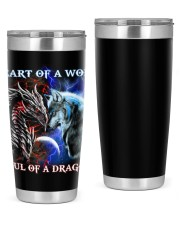 Heart Of A Wolf Soul Of A Dragon 20oz Tumbler tile