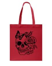 Skull Roses Flowers Butterfly Grin Death Love Tote Bag tile