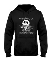 You Sound Better With Your Mouth Closed Hooded Sweatshirt tile