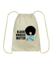 Black Nurses Matter Drawstring Bag tile