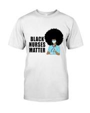 Black Nurses Matter Classic T-Shirt front