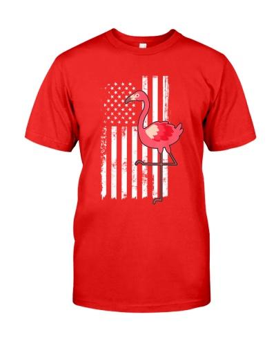 American Flag Pink Flamingo