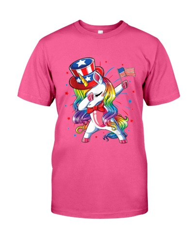 Dabbing Unicorn 4th of July