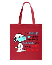 Mask Smiling Under The Hugging You In My Heart Tote Bag tile