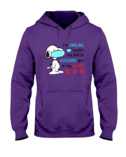 Mask Smiling Under The Hugging You In My Heart Hooded Sweatshirt tile