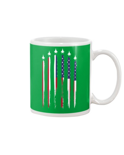 Flag USA Airplane Jet Fighter 4th of July