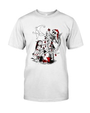 Jack And Sally Before Christmas Classic T-Shirt front