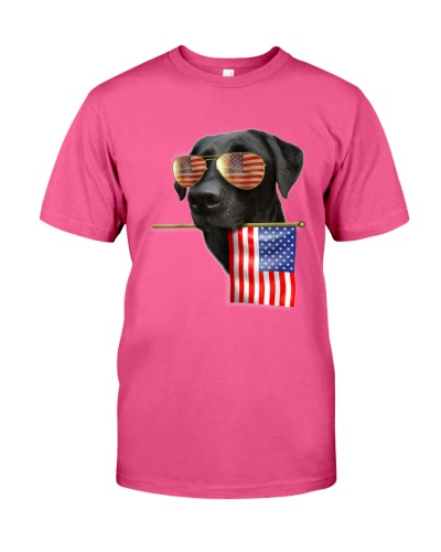 4th of July American Flag Labrador Dog