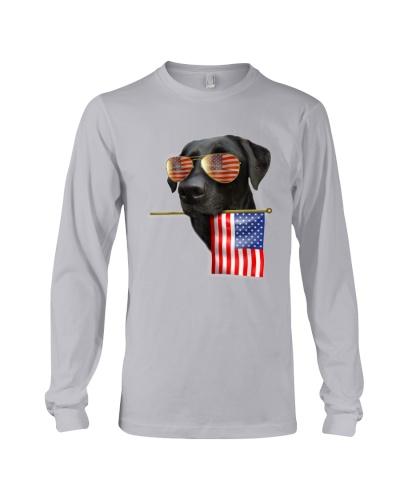 4th of July American Flag Labrador Dog