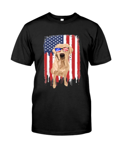 Labrador 4th July USA Flag