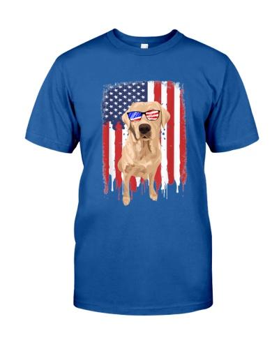 Labrador 4th July USA Flag