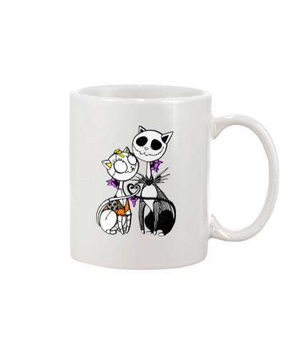 Jack Skellington And Sally Cat Halloween