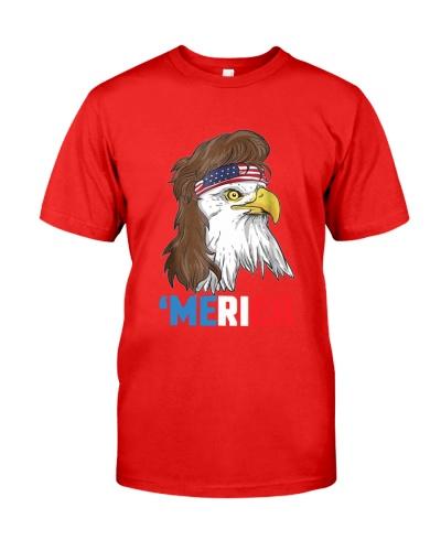 Merica Patriotic Mullet Eagle