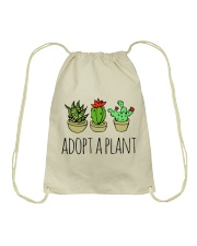 Cactus Adopt A Plan Funny Succulent Indoor Garden Drawstring Bag tile