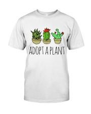 Cactus Adopt A Plan Funny Succulent Indoor Garden Classic T-Shirt front