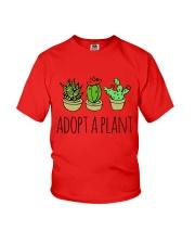 Cactus Adopt A Plan Funny Succulent Indoor Garden Youth T-Shirt tile