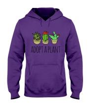 Cactus Adopt A Plan Funny Succulent Indoor Garden Hooded Sweatshirt tile