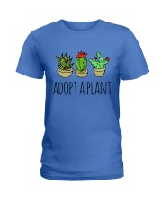 Cactus Adopt A Plan Funny Succulent Indoor Garden Ladies T-Shirt tile
