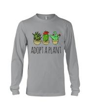 Cactus Adopt A Plan Funny Succulent Indoor Garden Long Sleeve Tee tile