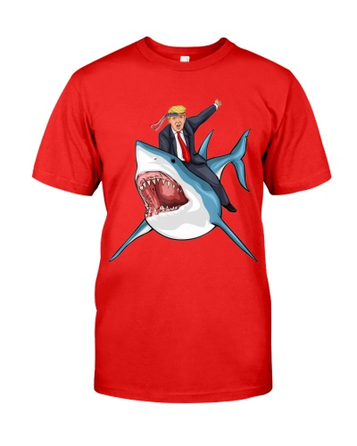 Donald T Shark President 4th of July American