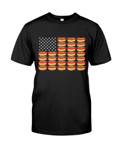 Hot Dog American Flag Patriotic