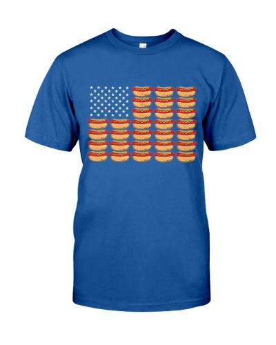 Hot Dog American Flag Patriotic