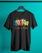 love is love V-Neck T-Shirt lifestyle-mens-vneck-front-3