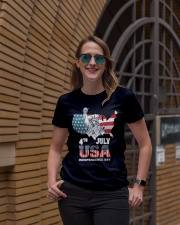 happy independence day 2019 Ladies T-Shirt lifestyle-women-crewneck-front-2