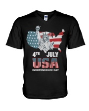 happy independence day 2019 V-Neck T-Shirt thumbnail