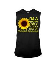 i'm happy go lucky ray of focking sunshine Sleeveless Tee thumbnail