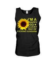 i'm happy go lucky ray of focking sunshine Unisex Tank thumbnail