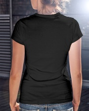 i'm happy go lucky ray of focking sunshine Premium Fit Ladies Tee lifestyle-women-crewneck-back-3